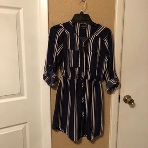Striped business casual dress
